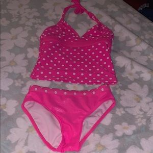 Girls size 7 two piece bathing suit